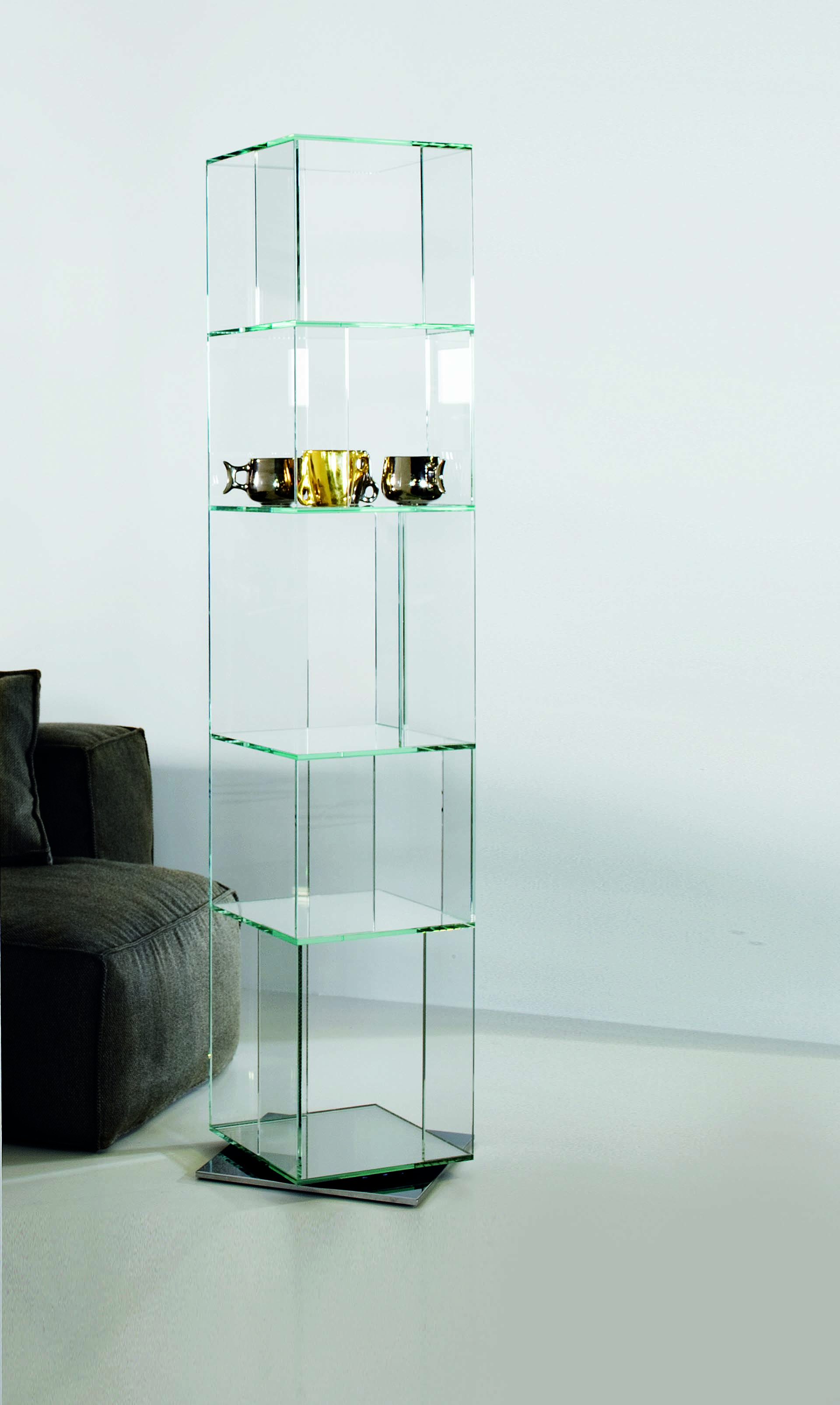 CIBIC GLASS BOOKSHELF BONALDO
