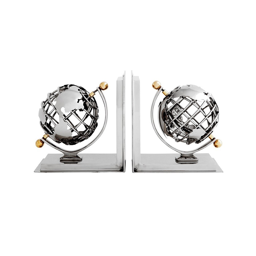 Bookend Globe Set of 2 Eichooltz